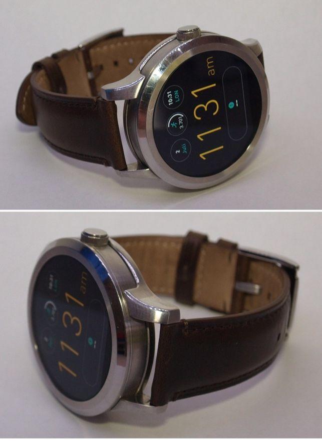 fossil smartwatch q founder mit leder armband braun ungenutzt in ovp ebay. Black Bedroom Furniture Sets. Home Design Ideas